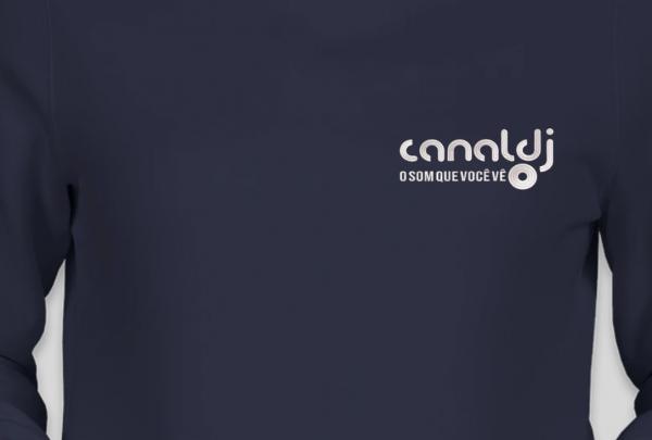 Blusa de Moletom Flanelado Canguru Feminino - CANAL DJ by Bordado & Cia - @bordado.cia