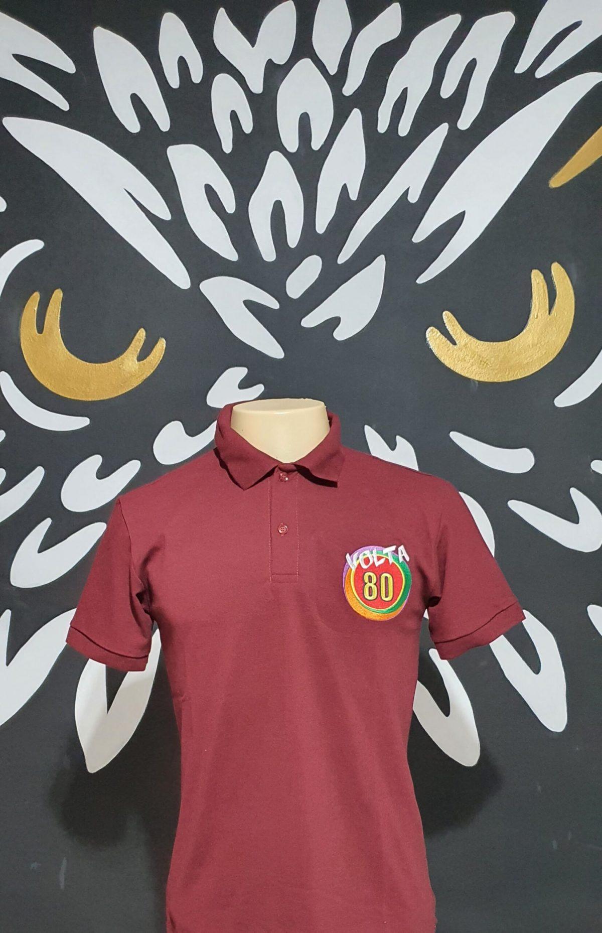 Camisa Polo Bordada da Festa Volta 80 - Logotipo Oficial Volta 80 - by Bordado & Cia - @bordado.cia @volta80