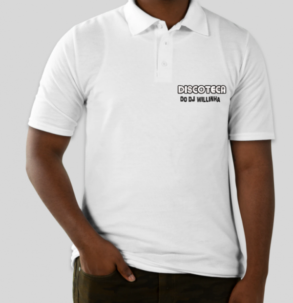 Camisa Polo Oficial Bordada da DISCOTECA DO DJ WILLINHA by Bordado & Cia - @bordado.cia @djwillinha