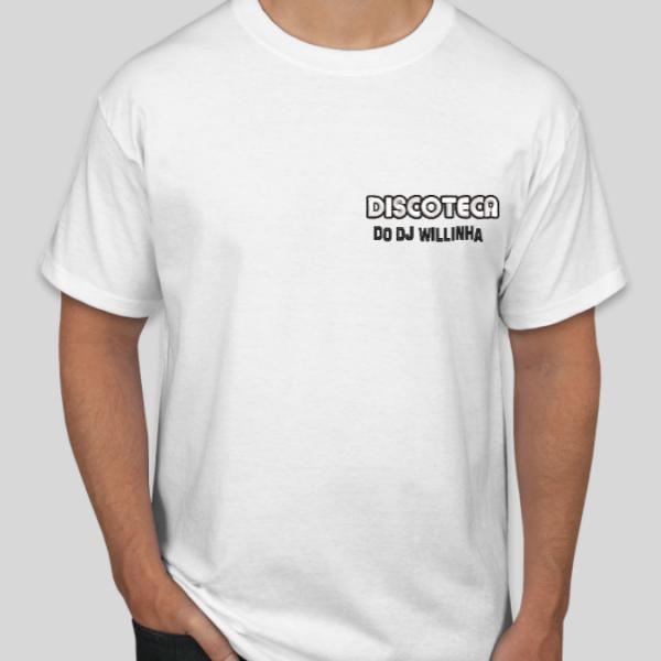 Camiseta Oficial Bordada da DISCOTECA DO DJ WILLINHA by Bordado & Cia - @bordado.cia @djwillinha