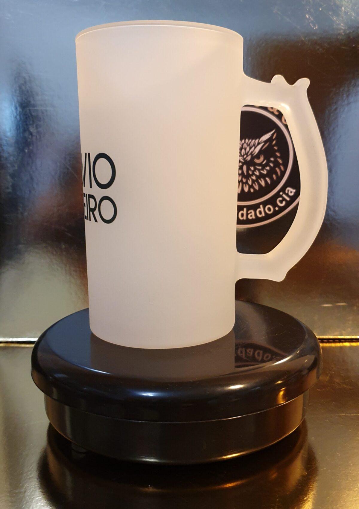 Caneca de Chopp Oficial do Silvio Ribeiro Locutor - Logo - by Bordado & Cia - @bordado.cia @silvioribeirolocutor