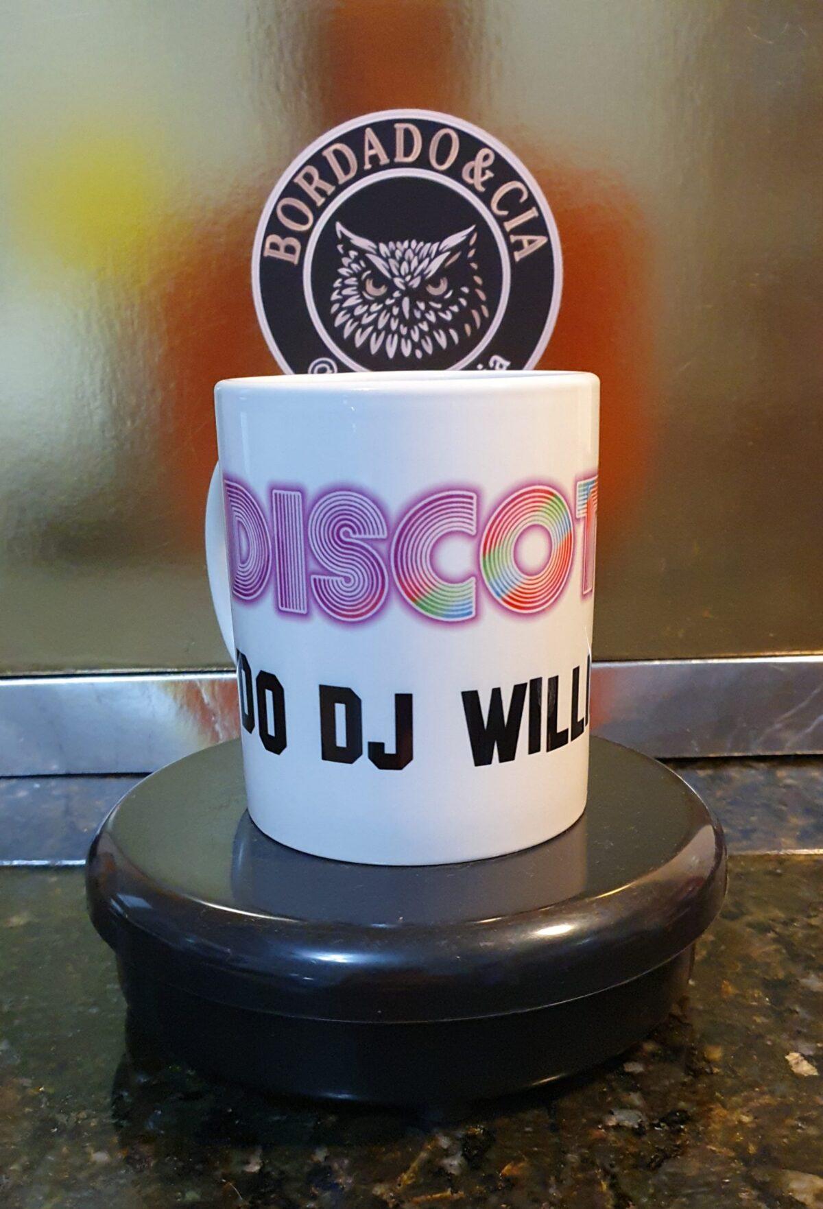 Caneca Oficial da Discoteca do DJ Willinha by Bordado & Cia - @bordado.cia @djwillinha