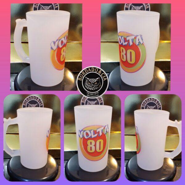Caneca de Chopp Oficial da Festa Volta 80 by Bordado & Cia - @bordado.cia @volta80