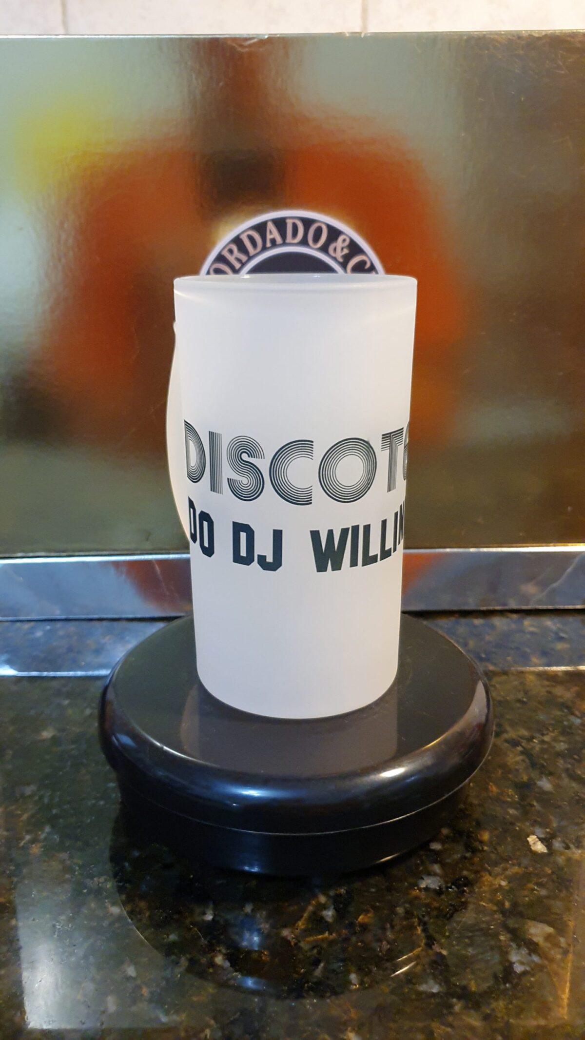 Caneca de Chopp da Discoteca do DJ Willinha by Bordado & Cia - @bordado.cia @djwillinha