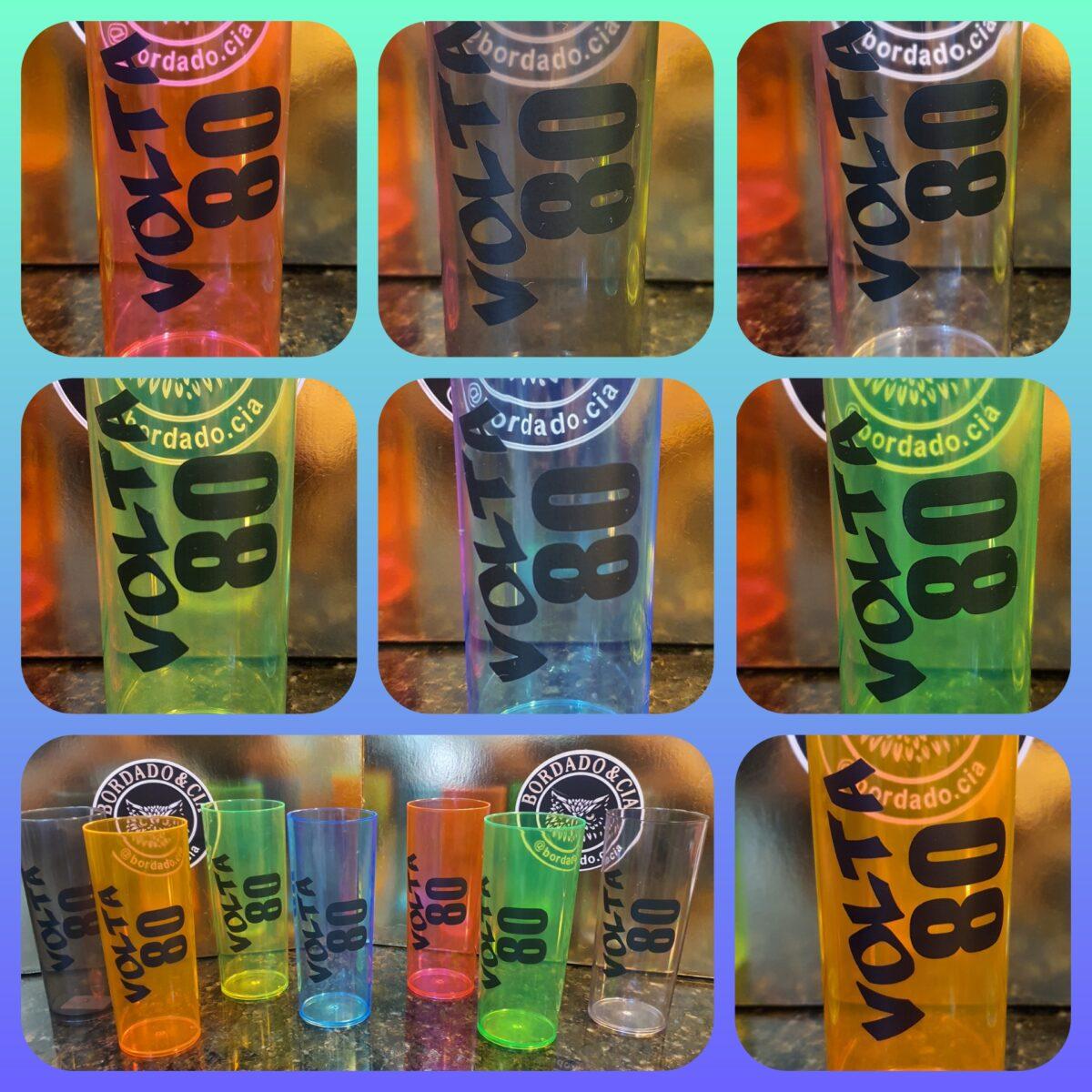 Copo Long Drink da Festa Volta 80 - Logotipo V80- by Bordado & Cia - @bordado.cia @volta80