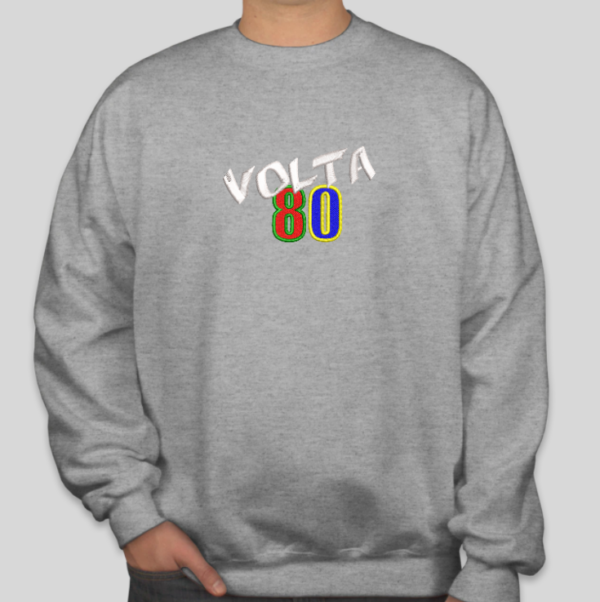 Moletom Bordado Fechado da Festa Volta 80 - Logotipo Volta 80 - by Bordado & Cia - @bordado.cia @volta80