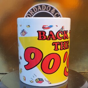 Caneca Oficial da Bordado & Cia Custom - Anos 90's - Back to the 90s Large - by Bordado & Cia - @bordado.cia