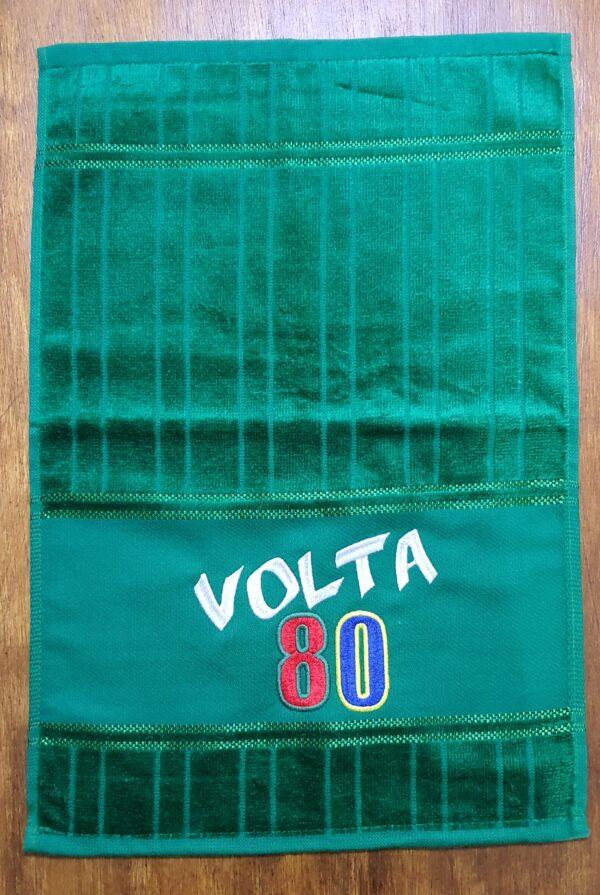 Toalha de Mão Bordada - Festa Volta 80 - Logotipo Volta 80 - by Bordado & Cia - @bordado.cia @volta80