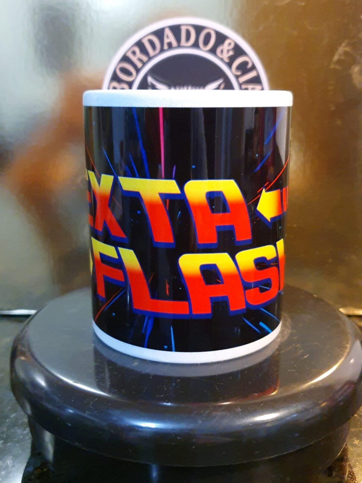 Caneca Oficial da Sexta Flash - Canal DJ - by Bordado & Cia - @bordado.cia @canaldj @sexta.flash