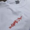"Camiseta Bordada ""Amor"" by Bordado & Cia - @bordado.cia"