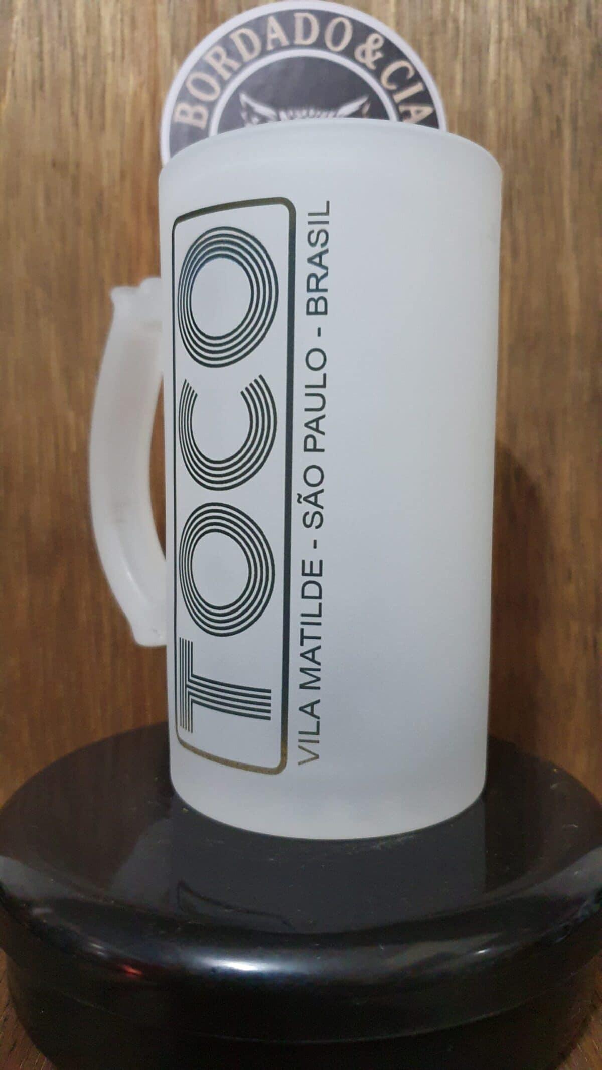 Caneca de Chopp Oficial da Danceteria TOCO by Bordado & Cia - @bordado.cia; @dj.vadao; @tocodance; #danceteriatoco