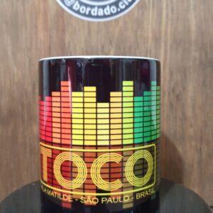 Caneca Oficial da Danceteria TOCO by Bordado & Cia - @bordado.cia; @dj.vadao; @tocodance; #danceteriatoco