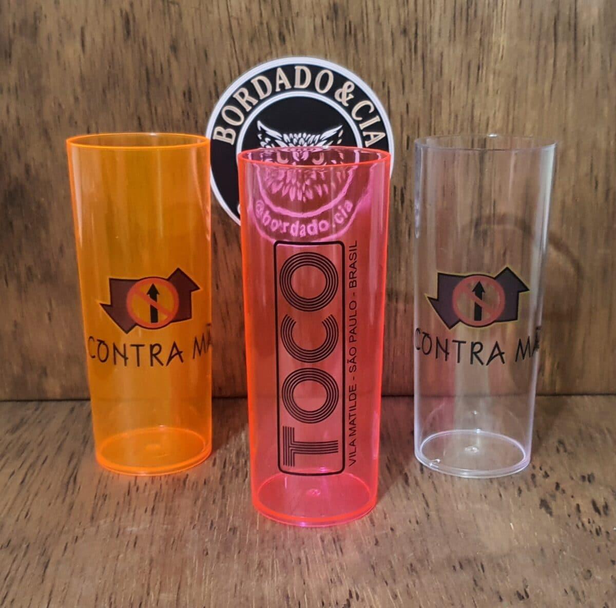 Copo Long Drink Oficial Contra Mão by Bordado & Cia - @bordado.cia; @dj.vadao; @danceteriacontramao; #danceteriacontramao