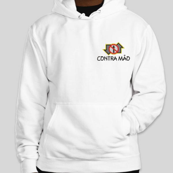 Moletom Canguru Oficial Contra Mão by Bordado & Cia - @bordado.cia; @dj.vadao; @danceteriacontramao; #danceteriacontramao